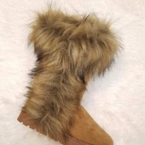 She's Smitten Faux Fur Boots