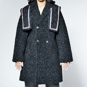The Shaggy Sailor Coat With Removable Shoulder Piece