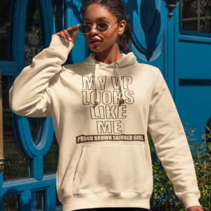 Proud Brown Skin Girl Inauguration Unisex Pocket Hoodie *Sizes Small-2x*