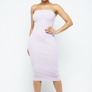 Summer Essential Midi Strapless Dress
