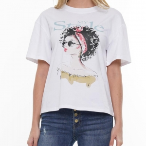 Style & Grace Pearl Headband Embellished Tshirt Sizes Sm-2x