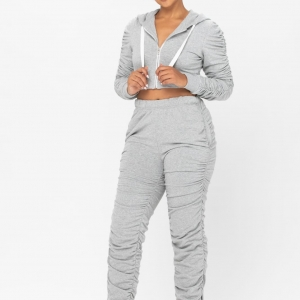 Just Vibin Ruched Two Piece Jogger Set *3 Colors In Stock* *Burnt Red, Camo, Grey*