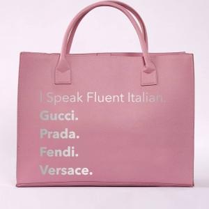 I Speak Fluent Italian Vegan Leather Tote HandBag