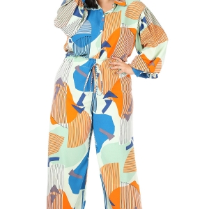Two Piece Printed Wide Leg & Top Set