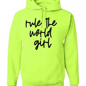 Rule The World GIRL Unisex Pocket Hoodie *Sizes Small-2x*