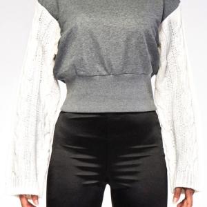 Blair Knit Sleeve Crop Sweater