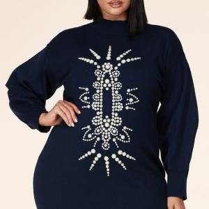 Clutchin My Pearls Sweater Dress/Tunic *Plus Size*